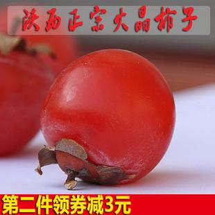 现摘陕西特产临潼火晶柿子新鲜软柿子野生薄皮小柿子水果5斤包邮
