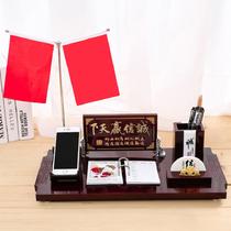 2021年日历创意桌面摆件定制2022办公笔筒木质台历架公司礼品订做