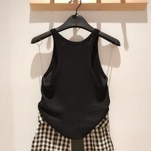 希哥弟思�q20216m6季新款女u5搭马甲针织衫打底背心(小)吊带女
