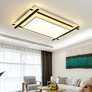 New home improvement living room shaped ceiling lamp master bedroom led iron personality creative three-tone light room long