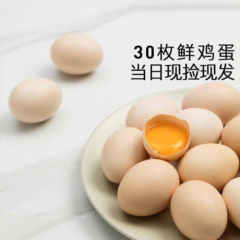 善食源鲜鸡蛋土鸡蛋农家散养柴鸡蛋孕妇新鲜草鸡蛋放养笨鸡蛋自养
