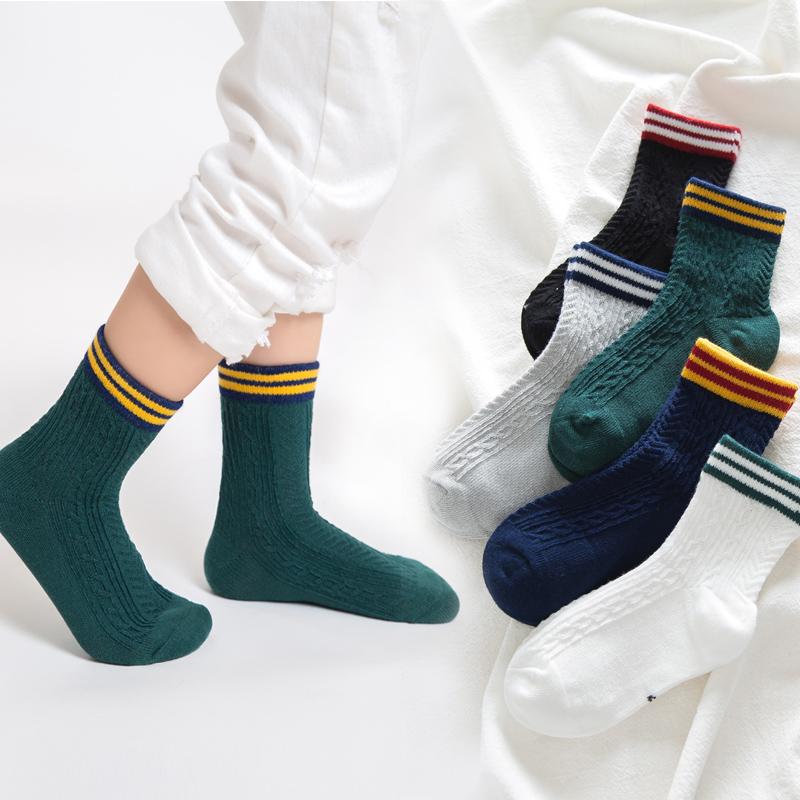 若行男童袜子纯棉3-5-7-9岁宝宝中筒袜春秋男孩儿童袜学生中筒袜