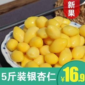 5斤新鲜银杏果仁 邳州特级白果仁真空包装去壳熟的银杏果500g*5袋