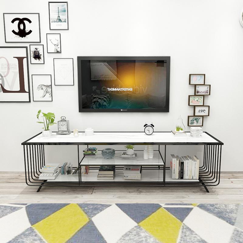 大理石电视柜茶几组合套装铁艺后现代轻奢欧式北欧小户型现代简约