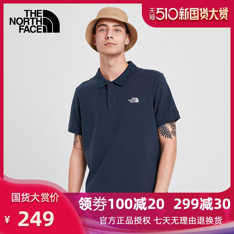 TheNorthFace北面20春夏新品短袖POLO男户外柔软舒适4997