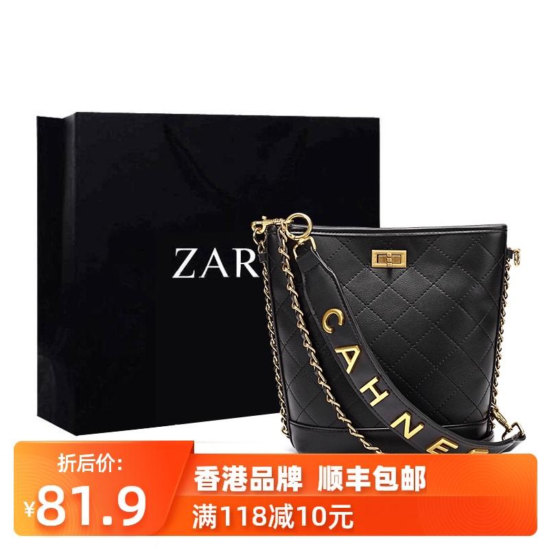 香港正品小ck嬉皮小香风包包2020新款网红大容量水桶单肩斜挎女包