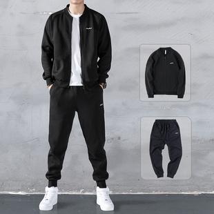 卫衣男运动套装2020秋季新款潮流棒球服外套搭配帅气两件休闲服装图片