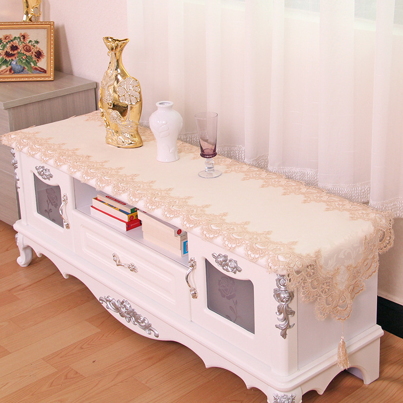 High grade coffee table tablecloth water soluble table flag european style tv cabinet Coffee table tablecloth