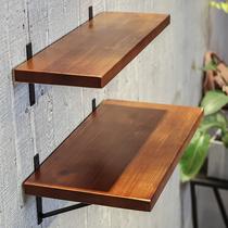 墙上置物架实木一字隔板壁挂挂墙承重货架家用书架客厅厨房收纳架