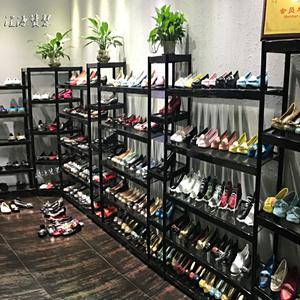 Shoe store shoe rack display rack shop assembly shoe rack boutique detachable high heel simple landing mall shelf