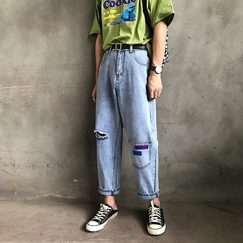 破洞口袋牛仔裤B271-N912-P55