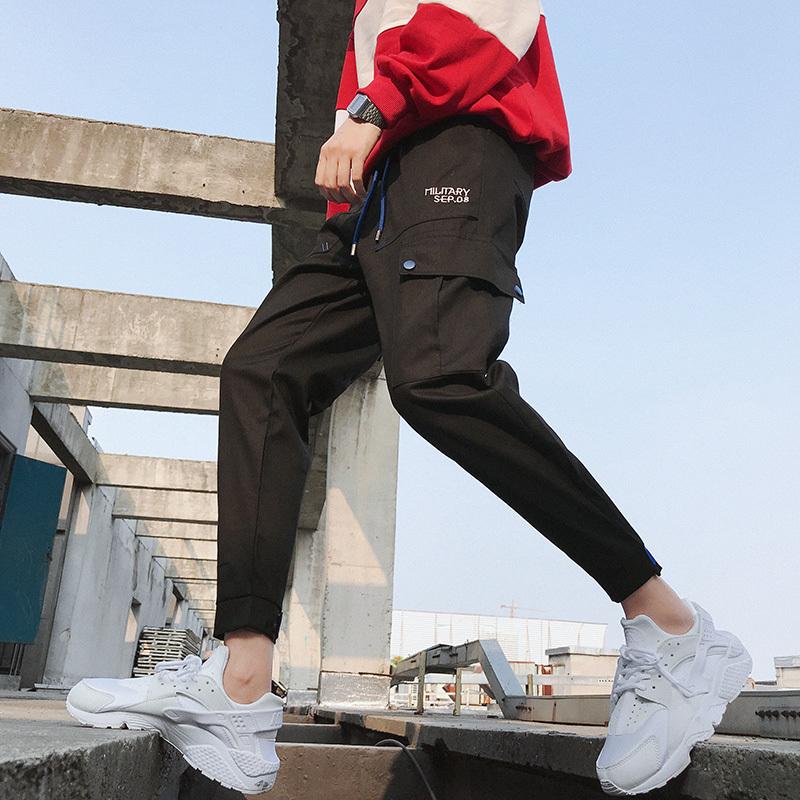 秋冬季男士工装裤潮牌长裤男束脚运动裤国潮休闲裤子男学生哈伦裤