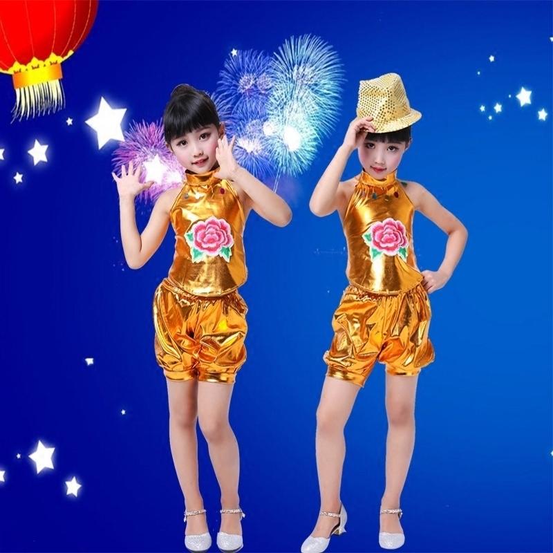 六一新款儿童舞蹈服民族跳舞腰鼓幼儿肚兜哪吒演出服中国风表演服