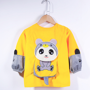Baby coveralls meal waterproof and anti-dirty autumn and winter children bib boy girl crystal fleece anti-wear baby apron