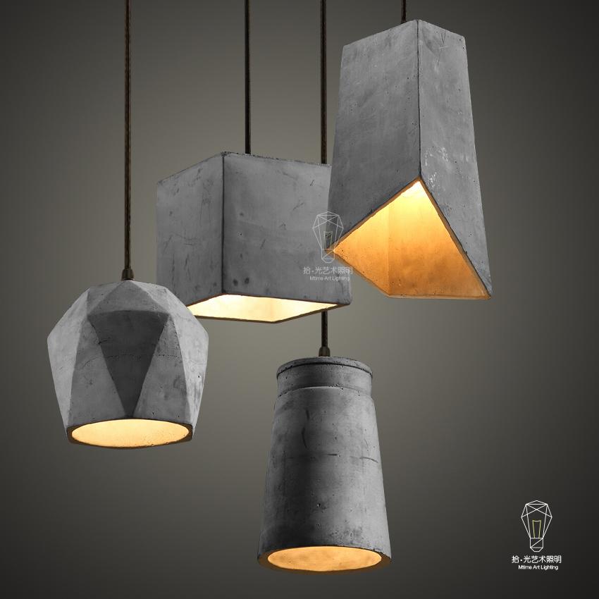 现代简约LOFT美式复古工业水泥创意设计个性客厅餐厅吧台吊灯-拾光艺术照明