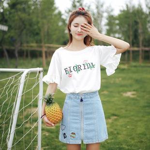 2019春夏季新款喇叭短袖t恤
