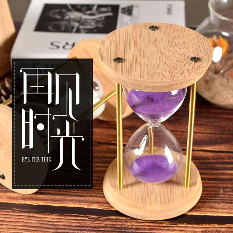 沙漏计时器时间15/30分钟生日礼物个性创意定制书房家居摆件刻字