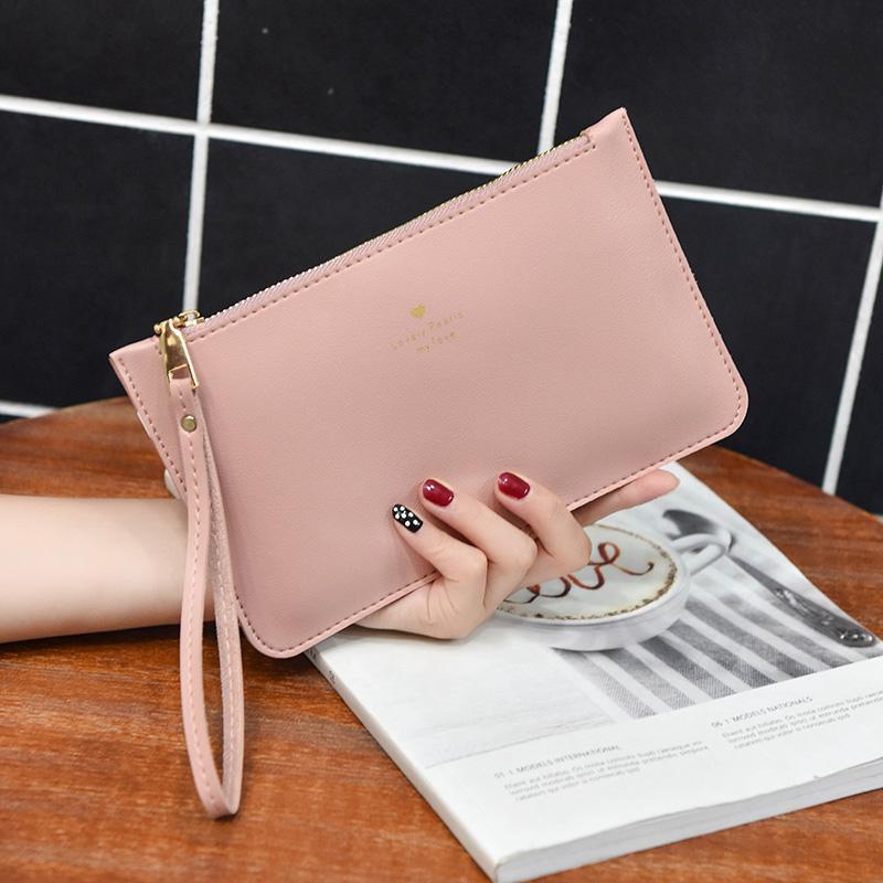天天特价大容量手拿包女韩版  休闲手拎钱包女长款手提带手机包