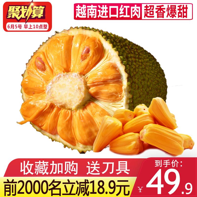 越南进口新鲜水果红肉红心菠萝蜜7-9斤 当季热带波罗蜜榴莲海南20