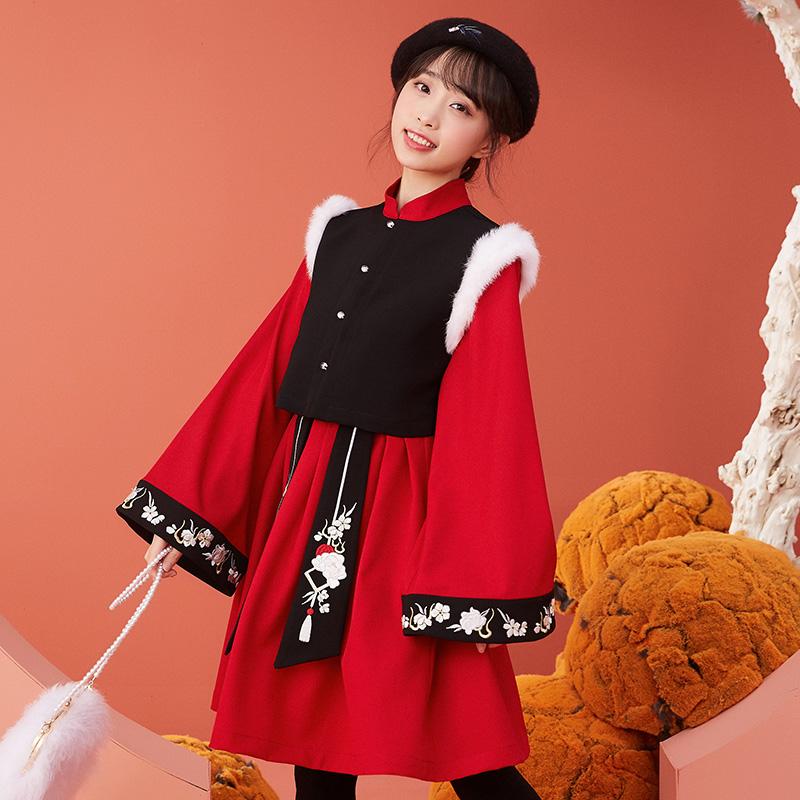 【十三余 小豆蔻儿】[海棠诗]绣花连衣裙汉元素