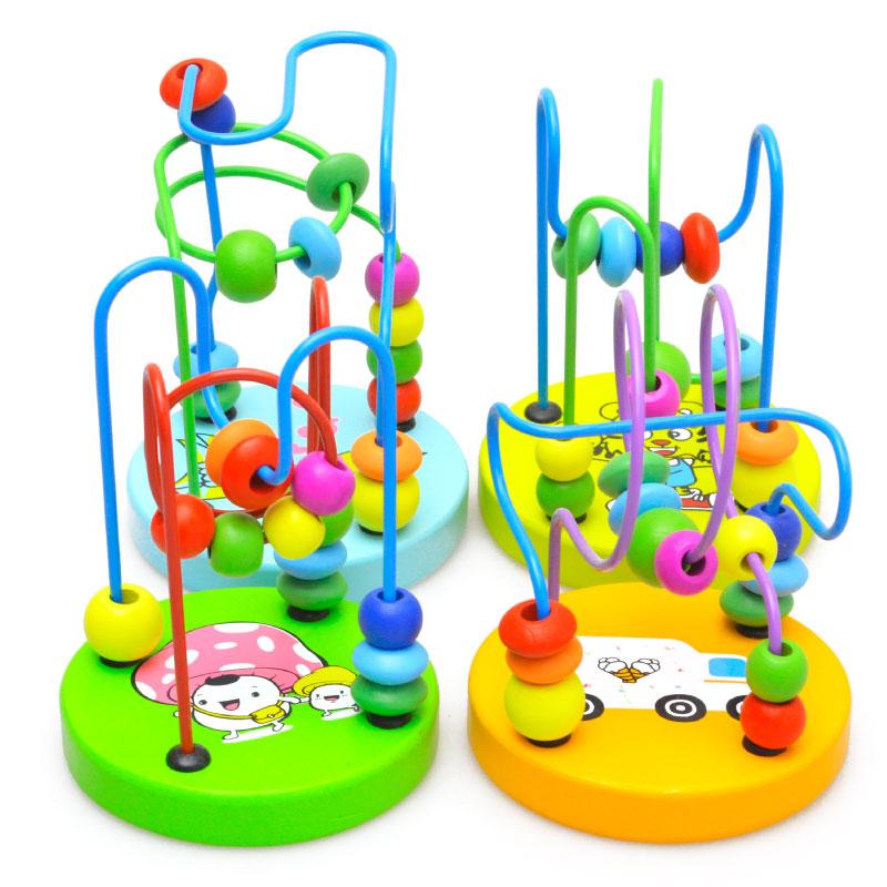 木质儿童穿珠子小绕串珠男女孩宝宝早教益智力幼儿童玩具0-1-3岁