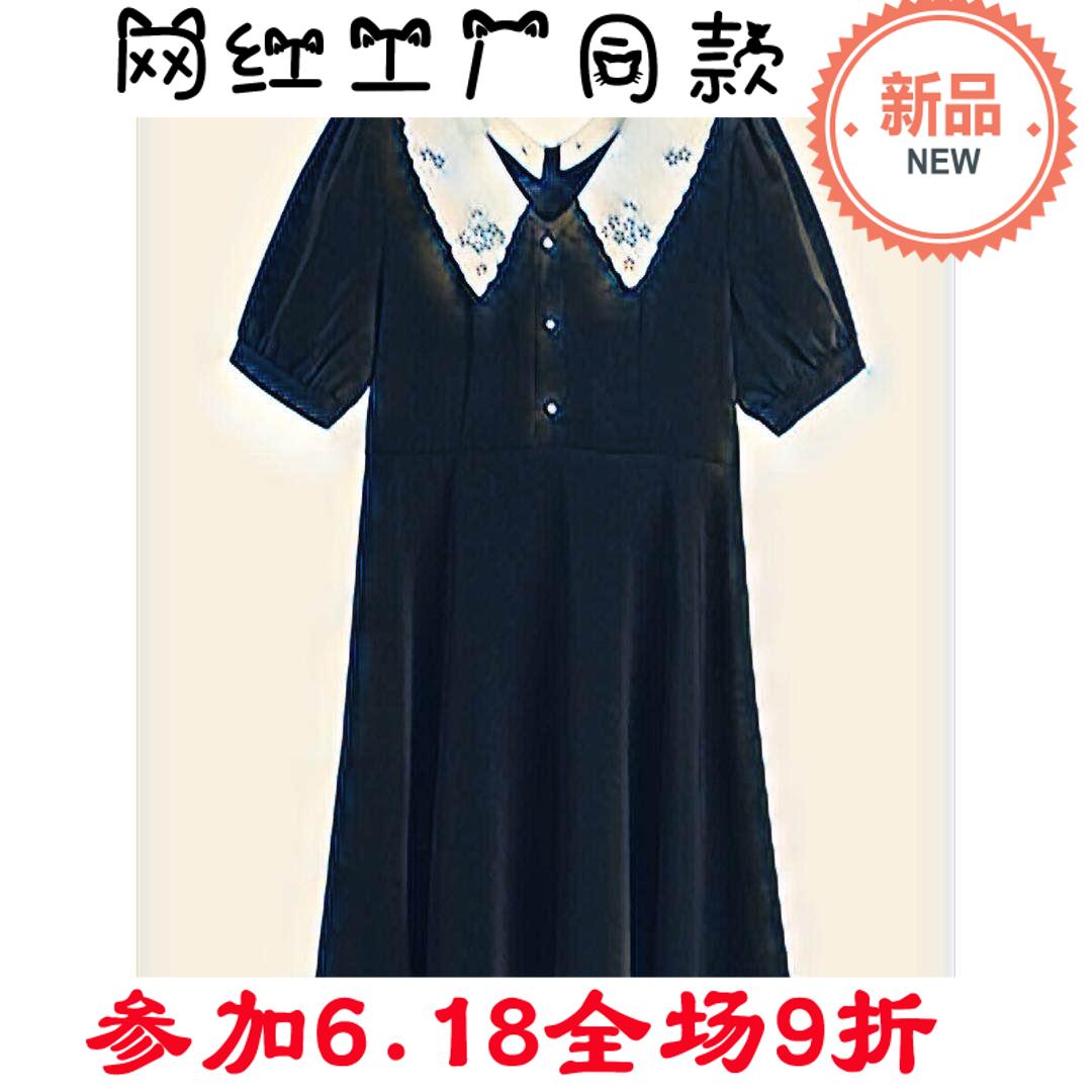 【125斤唐不灵Bling】微胖妹妹气质显瘦小黑裙女2020新款连衣裙女