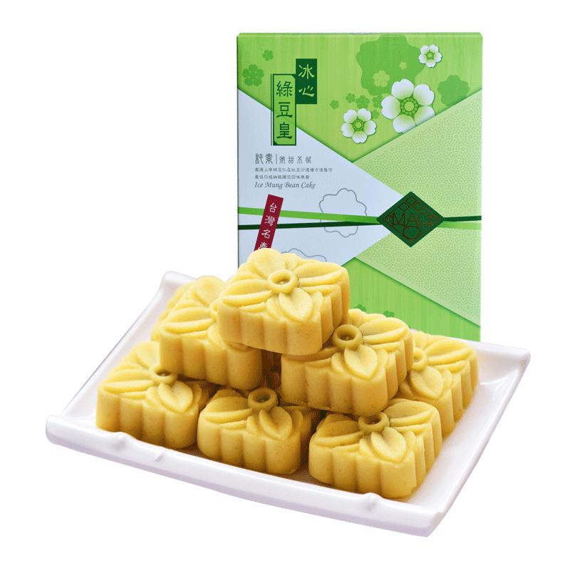 毛老爹台湾特产进口冰心绿豆皇绿豆糕正品传统美食小吃零食
