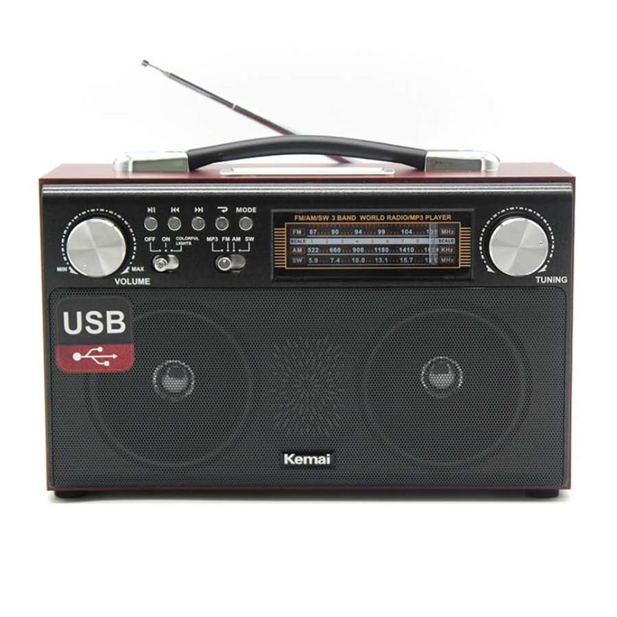 复古蓝牙音箱家用大音量怀旧木质收音机便携式插卡U盘户外音响