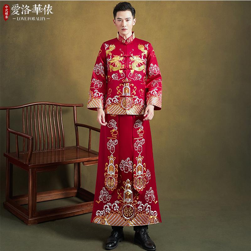 中式婚礼秀禾服新郎2020新款秋冬男款结婚礼服男士中国风秀禾男装