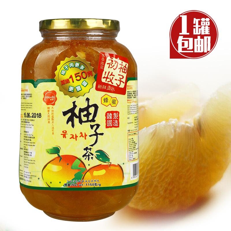 正品韩国高岛初收柚子茶蜂蜜柚子茶酱1150g 水果花茶奶茶热饮瓶装