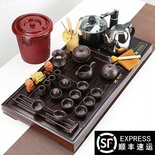 紫砂功夫 套装实木茶盘茶台家用
