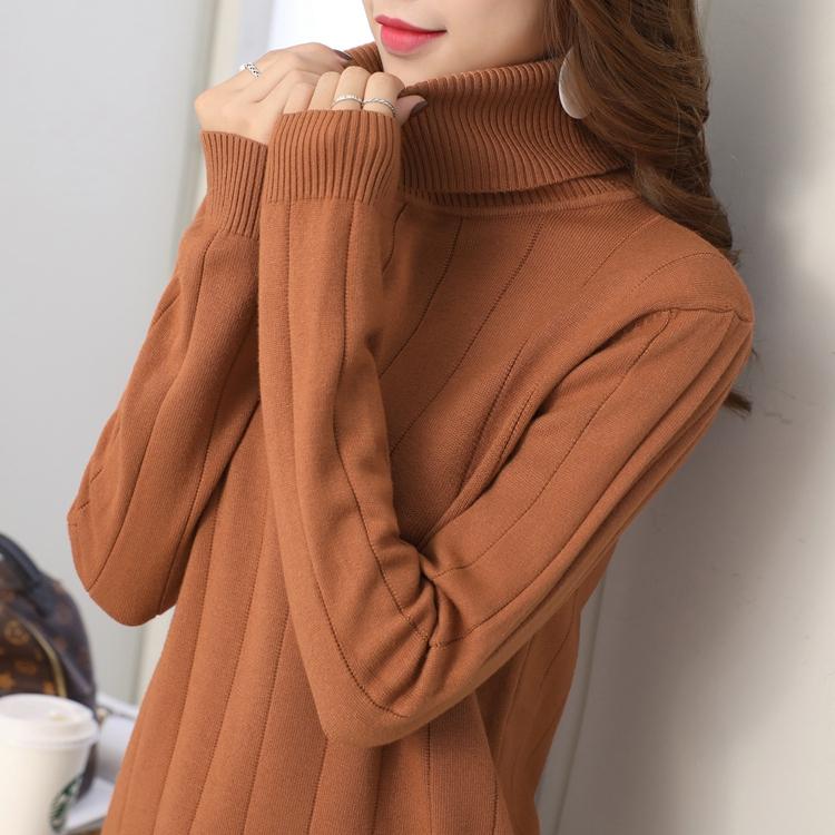 高领毛衣女2017秋冬新款韩版学生套头宽松加厚短款百搭可爱打底衣