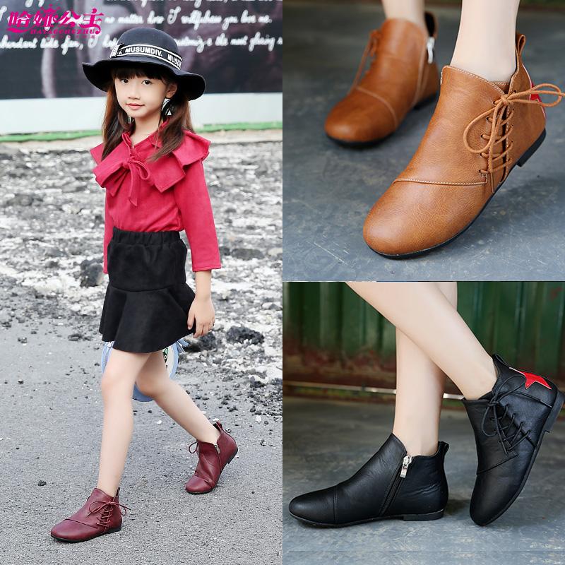 女童单鞋儿童公主鞋中大童小学生皮鞋儿童黑色小皮鞋女童皮鞋鞋子