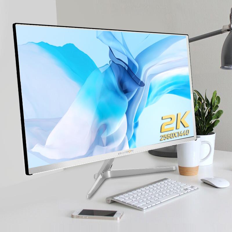 冠捷/易美逊27英寸2k显示器IPS超薄高清液晶专业设计4K电脑屏幕24台式机PS4笔记本外接32显示屏G272Q