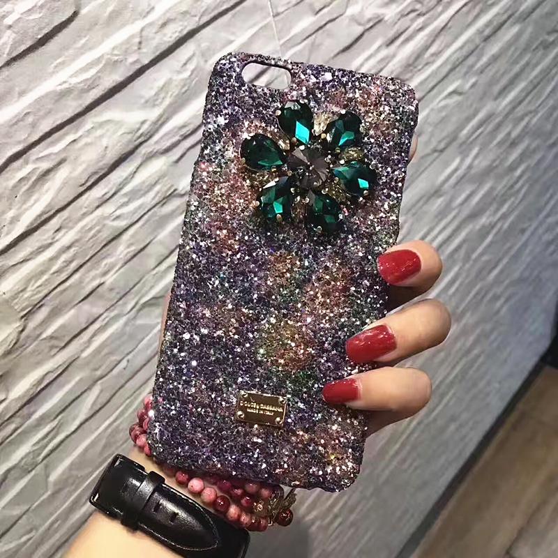 大牌闪钻大宝石iPhone7/7plus手机壳苹果6s/6p保护套镶钻奢华女款