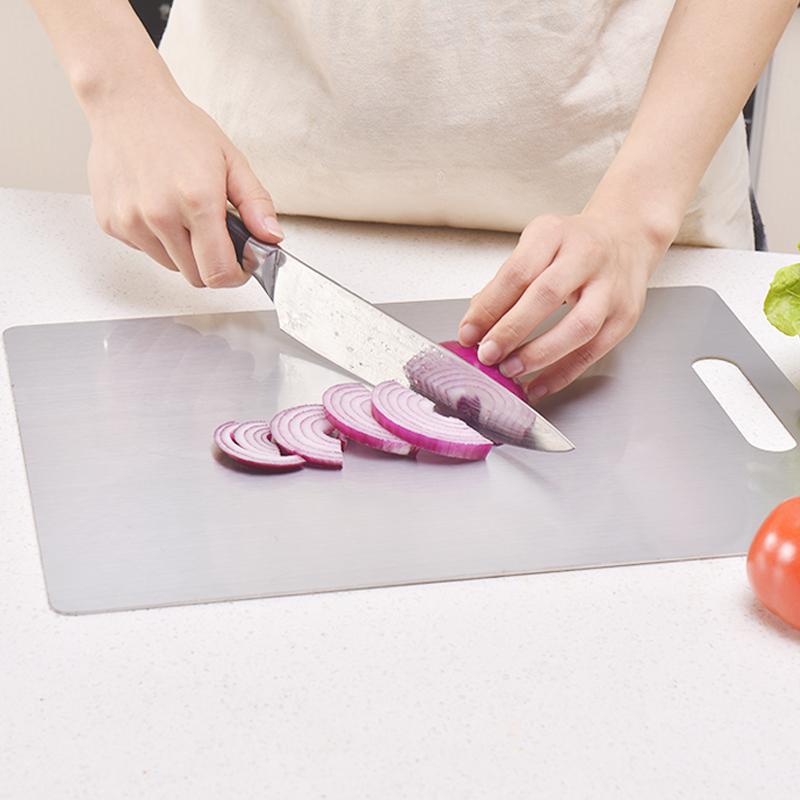 304不锈钢切菜板抗菌防霉砧板案板家用和面擀面切水果小宿舍占板