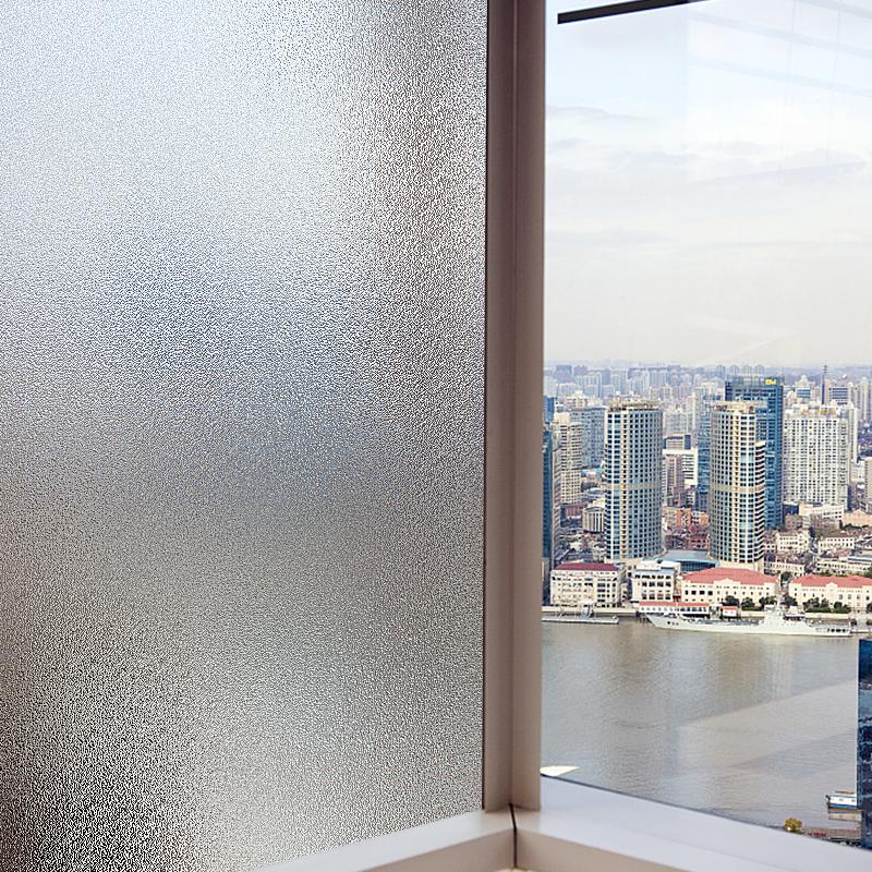 免胶磨砂玻璃贴纸防晒窗贴透光不透明办公室卫生间浴室窗户贴膜