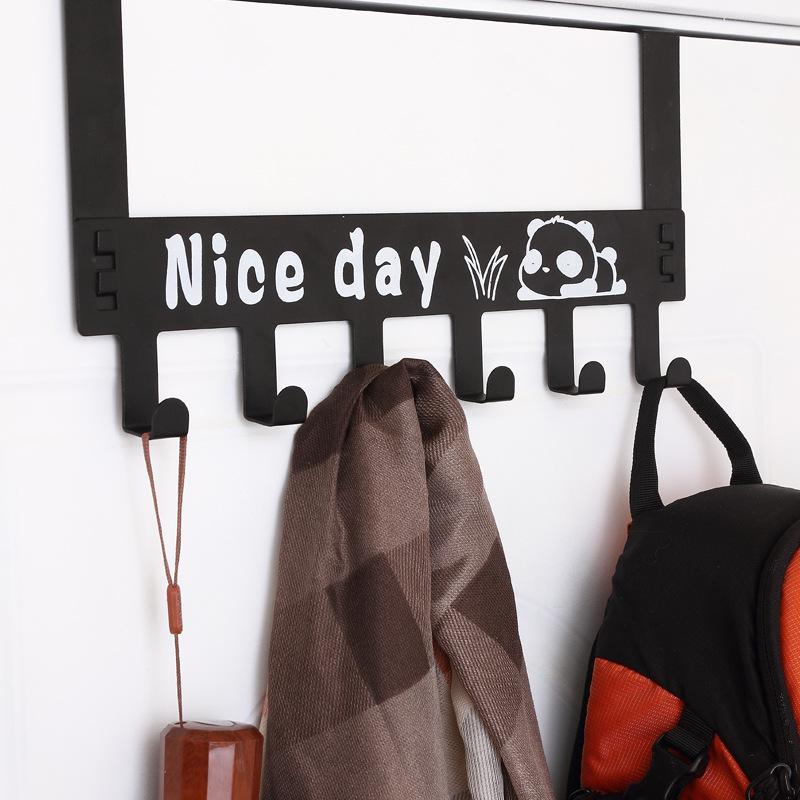 免打孔门后挂钩置物架壁挂免钉门上门背式衣架挂衣服收纳架衣帽钩