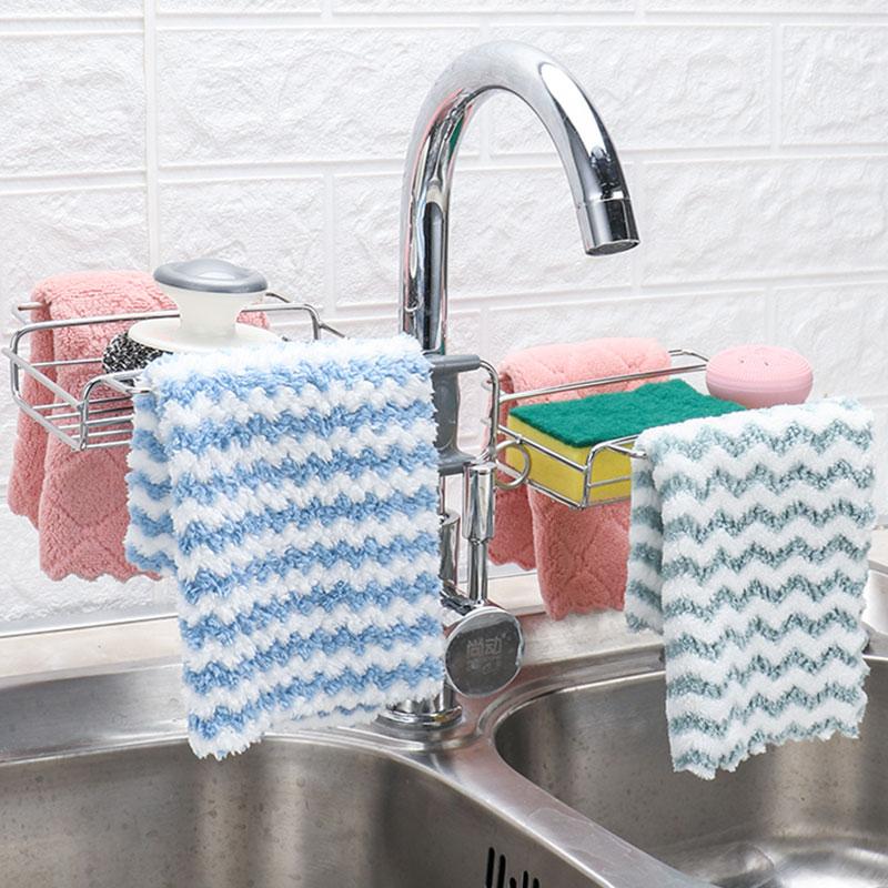 水龙头置物架不锈钢厨房用品神器水槽收纳架洗碗抹布海绵沥水架子