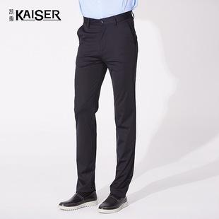 Kaiser/凯撒男装新款纯色商务时尚百搭直筒舒适休闲裤EFMAX19718