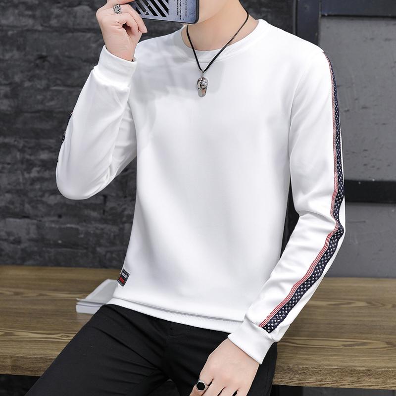 秋季男士卫衣韩版圆领潮流帅气长袖T恤打底衫bf春秋装上衣服外套