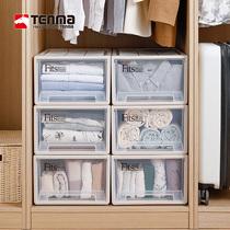 【薇娅推荐】tenma日本天马株式会社抽屉式收纳箱塑料整理箱3个装