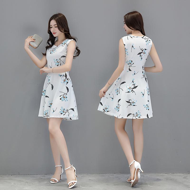 2018夏季新款女装吊带中长款裙子清新宽松显瘦A字连衣裙公主风