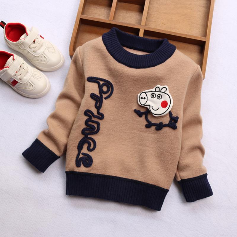 男童保暖上衣5加绒女宝宝针织打底衫男孩4岁儿童套头毛衣2019新款