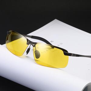 偏光变色太阳镜日夜两用墨镜变色眼镜夜视镜夜视驾驶钓鱼眼镜
