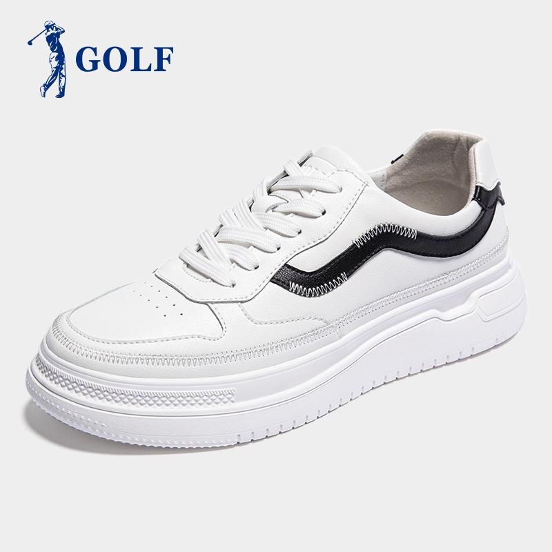 GOLF男鞋夏季2020新款小白鞋男板鞋冲孔透气韩版休闲鞋增高鞋子男满299元减200元