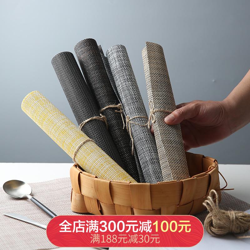 欧式餐垫防水防油西餐垫pvc碗垫子家用 防烫盘子垫餐盘垫隔热垫