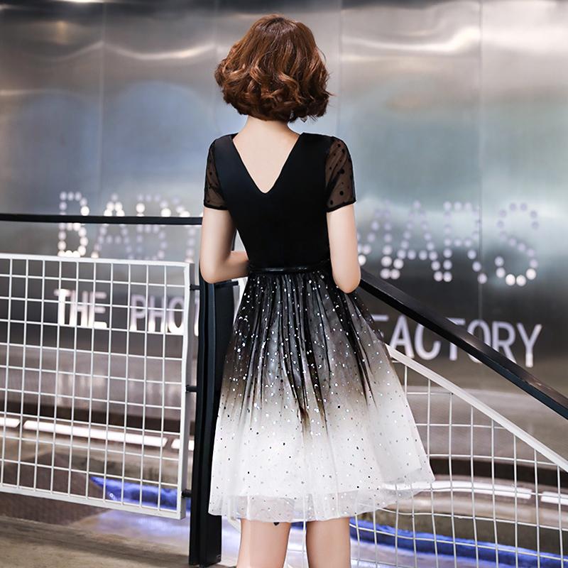 晚礼服 宴会 气质 合唱团 演出服 简单 大方 平时 现代 渐变 连衣裙