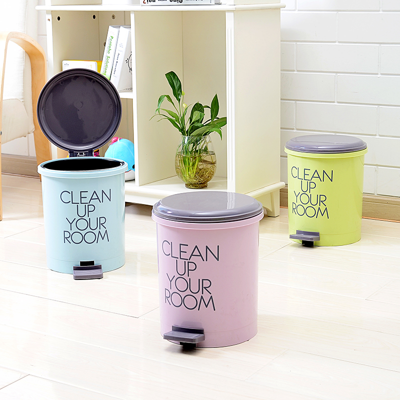 泰禾家用脚踏垃圾桶办公纸篓卫生间垃圾桶有盖卫生桶圆形方形客厅