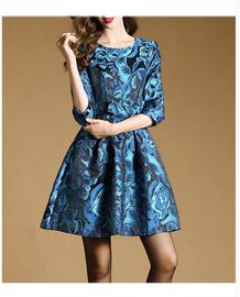 春秋季台湾品牌女装新款高贵夫人中年妈妈纯棉连衣裙夏30 35 45岁